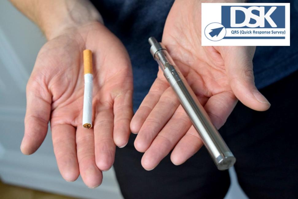 Querer dejar de fumar, principal motivo para empezar a vapear
